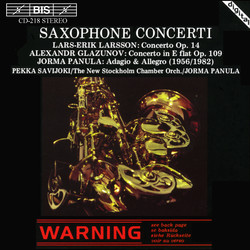 Saxophone Concerti by Glazunov and L-E Larsson