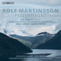 Rolf Martinsson - Presentiment (Orchestral Works)
