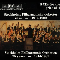 Stockholm Philharmonic Orchestra 75 years 1914-1989