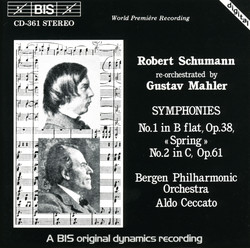 Schumann - Symphonies No.1 & No.2 (re-orchestrated by Gustav Mahler)