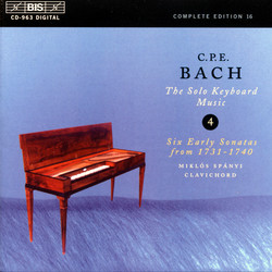 C.P.E. Bach - Solo Keyboard Music, Vol.4